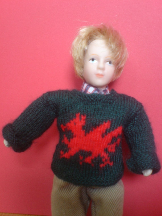 Knitting Pattern For Dolls Jumper : Miniature Dolls House 1/12th Scale Knitting by ...