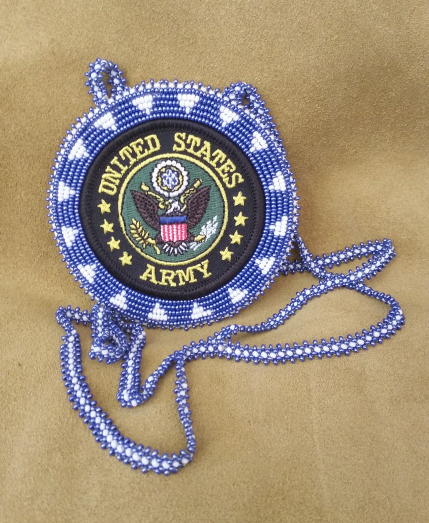 Choctaw Beads: Native American Beaded Army Medallion By ChahtaJewelry On Etsy