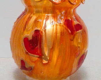 Hearts on Fire Passion Candle Holder/Vase/Jar