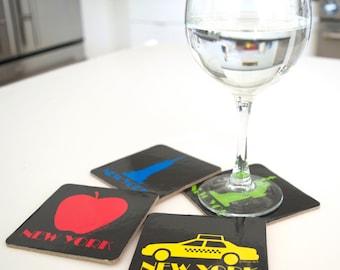 New York Coasters-Statue-Empire-Taxi-Apple