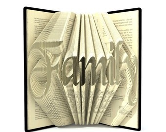 Book folding pattern - FAMILY - 298 folds + Tutorial with Simple pattern - Heart - WO0801