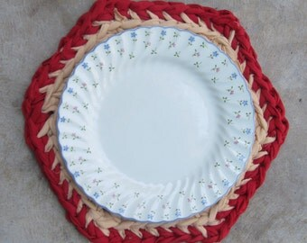 Crocheted Upcycle Place Mats – Set of 4