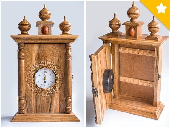 Wooden Clock Table Clock Wall Key Holder Key Hook Key Hanger