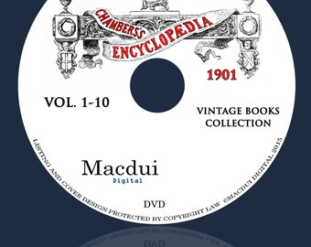 Chambers's encyclopaedia 1901 Vintage Books Collection 10 PDF E-Books on 1 DVD