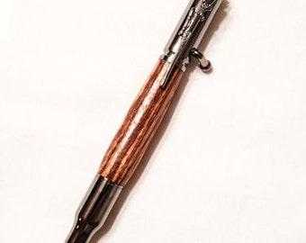 Zebrawood 30 Caliber Bolt Action Pen
