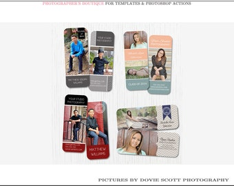 Senior Rep Card Templates - Set of 4