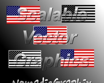 5 American Flag Designs - Vector Cut Files - SVG / DXF / EPS