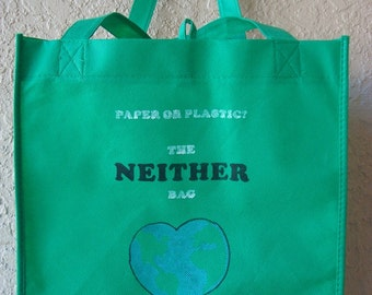 Reusable Bag - Help Save The Only Earth We Have - Reusable Grocery Bag, Shopping Bag, Recycle Market Bag, Farmers Market Bag, Earth Day