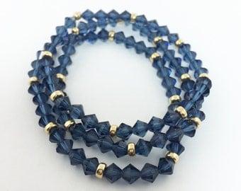 Montana Gold-Filled Czech Crystal Bracelet - Set of 3
