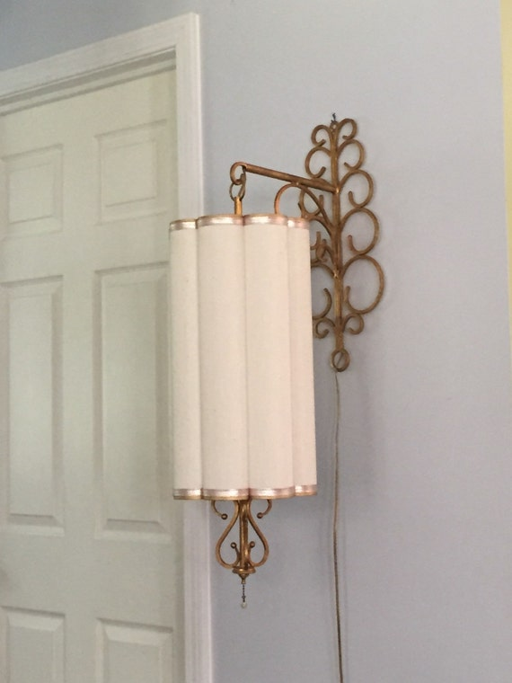 Wall Brackets For Hanging Lamps : Amazing Mid Century Wall Mount Hanging Lamp