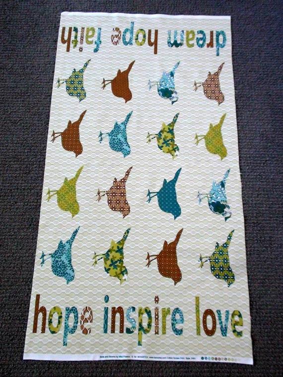 Bird Fabric Panel Bird Fabric Panel