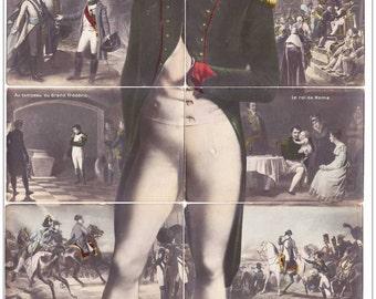 Very special a puzzle 10 postcards 1913 Napoleon representative