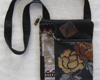SALE - Evening Out - Woman's Strap Purse Handbag Vintage Japanese Kimono Fabric