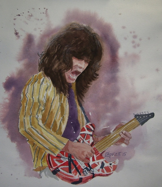 "Electric Eddie,16"" x 20"" Watercolor,ONE OF A KIND, Not a Print,Free Shipping Code SKYE2"