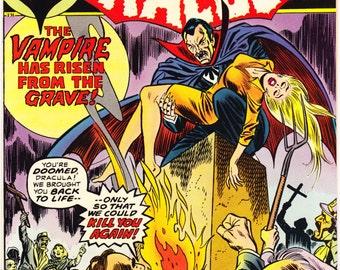 The Tomb of Dracula 14, 4th BLADE  Vampire hunter, Horror Comic book, Halloween Blood Monster, Van Helsing. 1973 Marvel Comics in NM (9.4)