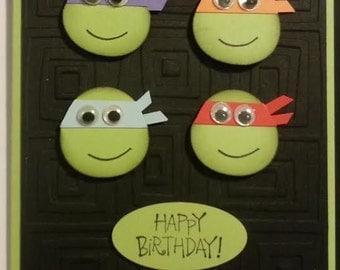 Handmade Teenage Mutant Ninja Turtle Birthday Card