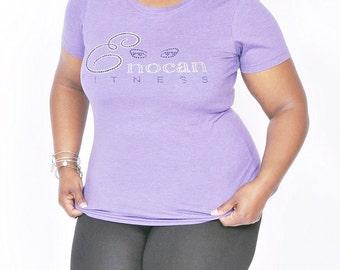 ENOCAN Fitness Signature Bling Tee/Fitness Bling T-Shirt
