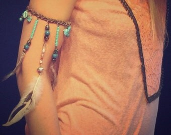 Boho Feather Armband