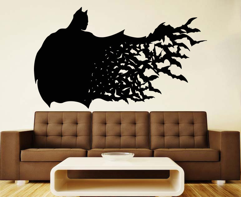Batman wall vinyl decal dark knight wall vinyl sticker for Dark knight mural