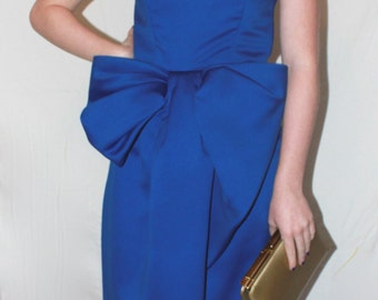 Victor Costa Royal Blue Vintage Evening Gown