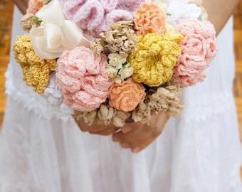 Crochet wedding bouquet spring