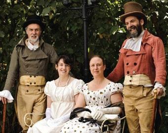 Regency Jane Austen Dress Empire Gathered Gown