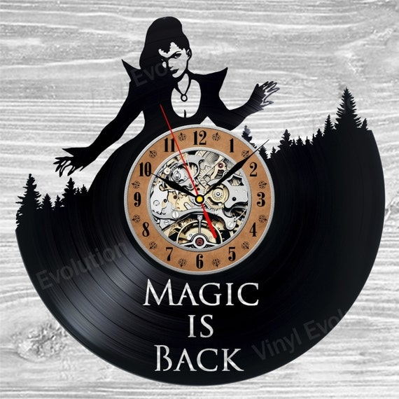 Once upon a time vinyl clock wall art shirt creations captain swan mug decoration room decor beauty beast happily ever after magic comes