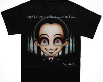 Wednesday Adams Cartoon T-Shirt