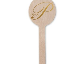 Monogram Drink Stir Sticks