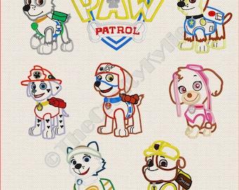 Paw Patrol Applique Design U2013 Etsy