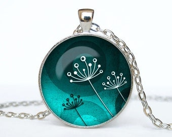 Dandelion necklace Dandelion pendant Dandelion jewelry