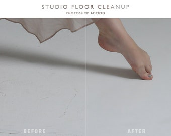 Studio Floor Cleanup - Photoshop Action
