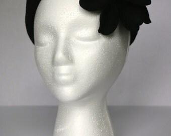 SALE: Vintage Merrimac 1940's Cloche Black