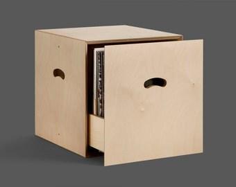 Modular system with plywood drawer door vinyl