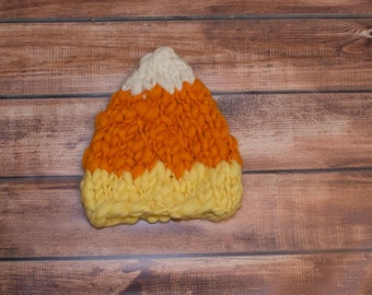 Newborn candy corn hat/ newborn halloween hat