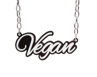Vegan Acrylic Statement Necklace