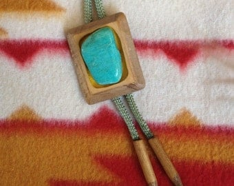 Turquoise in Wood