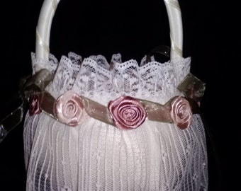 Flower Girl Basket Dusty Rose