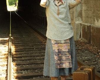 Samurai Skirt –Indigo: Eco-Friendly Natural Hemp Clothing