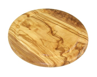 Breadboard made of olive wood approximately 22 cm wooden cutting board Sevierbrett juice Rille steak plate