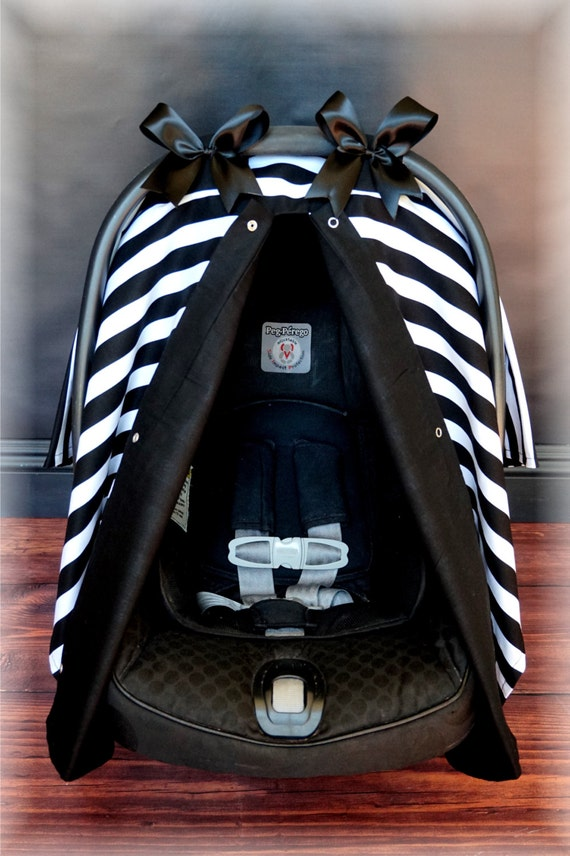 Black And White Stripe Carseat Canopy The Canopy Shoppe