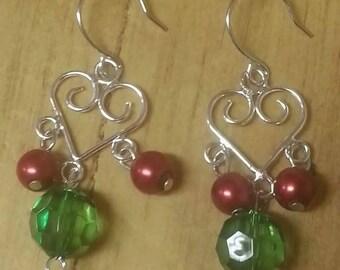 I Heart Christmas Earrings