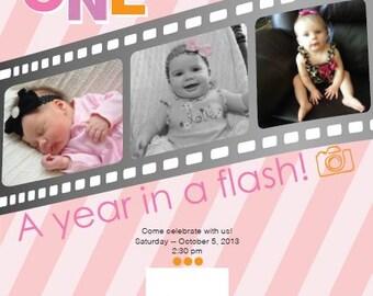 1yr In a Flash Custom Photo Invitation