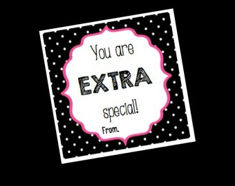 EXTRA Special Cards - Thank you gifts - Favors - Valentines - Appreciation - Teacher Gifts - Party Favors