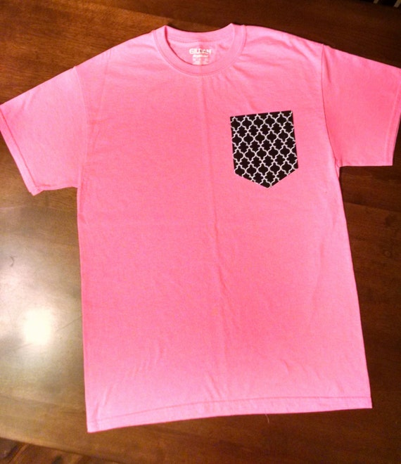 Custom pocket t shirt unisex adult frocket by frocketshirtco for Custom t shirt with pocket