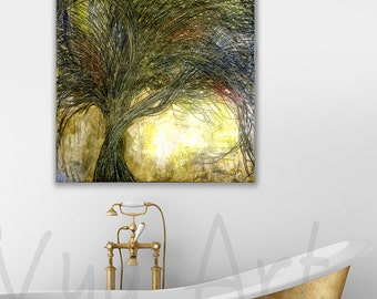 Black Tree painting Oil Painting Black Trees painting Tree painting original painting abstract painting single canvas nature painting art