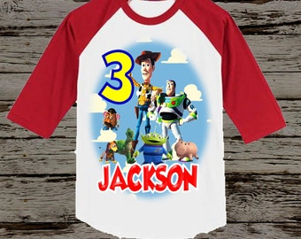 Toy Story Birthday Shirt - Boy's Toy Story Shirt - Raglan Available