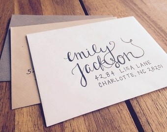Hand-Lettered || Hand-Written Envelopes