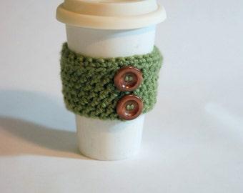 Eco-Friendly Green Coffee Cozy