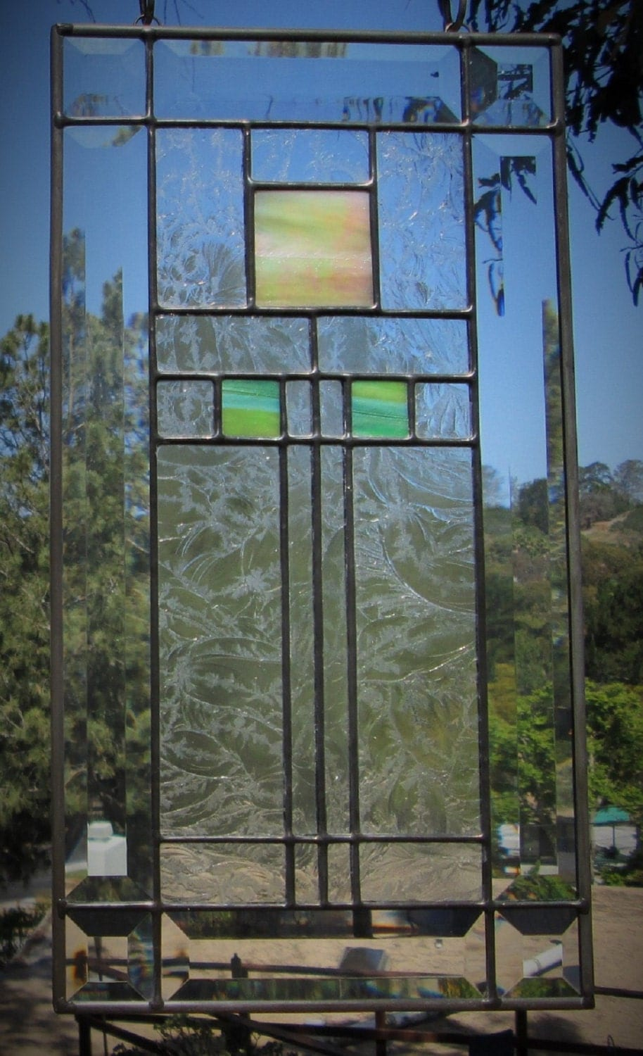 Frank Lloyd Wright Stained Glass Inspired Iridescentbeveled